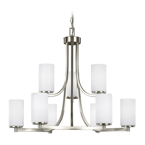 Sea Gull Lighting Sea Gull Lighting Hettinger Brushed Nickel Chandelier 3139109-962