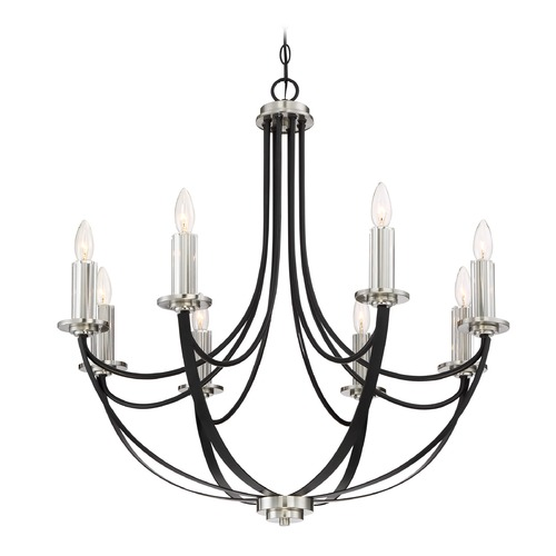 Quoizel Lighting Quoizel Lighting Alana Mystic Black Chandelier ANA5008K