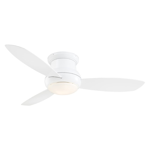 Minka Aire 52-Inch Minka Aire Concept II White LED Ceiling Fan with Light F474L-WH