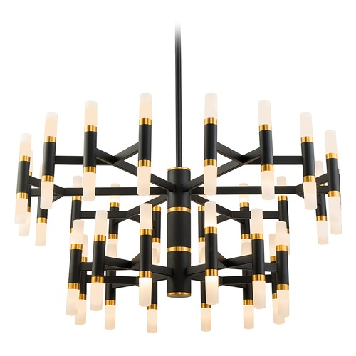 Kuzco Lighting Kuzco Lighting Draven Black / Gold Brushed LED Chandelier CH19833-BK