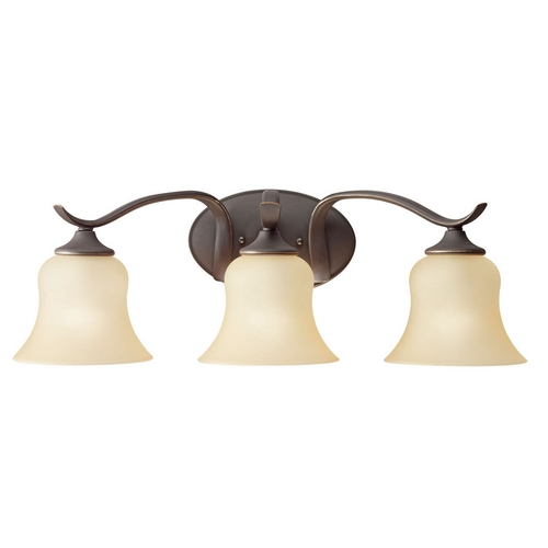 Kichler Lighting Kichler Bathroom Light with Beige / Cream Shades in Olde Bronze Finish 10638OZ