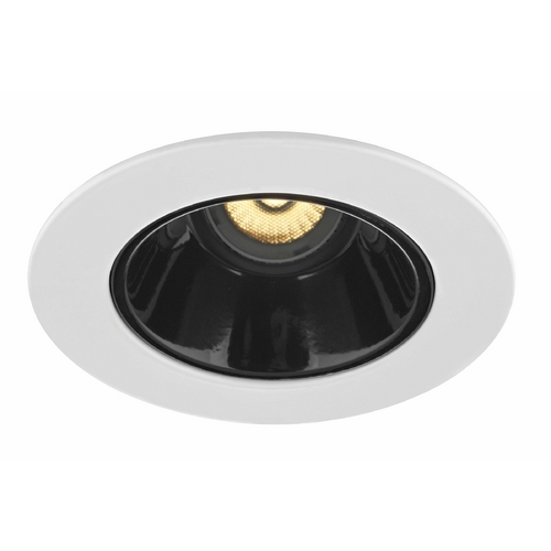 Recesso Lighting by Dolan Designs GU10 Adjustable Black Reflector Trim for 4-Inch Line and Low Voltage Recessed Cans T414B-WH