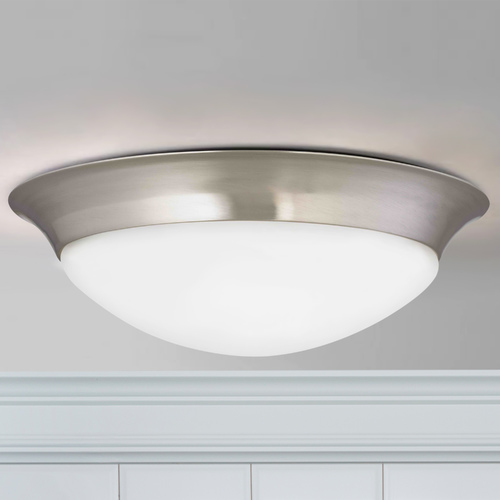 Design Classics Lighting Sho Satin Nickel LED Flushmount Light 4014-90-09