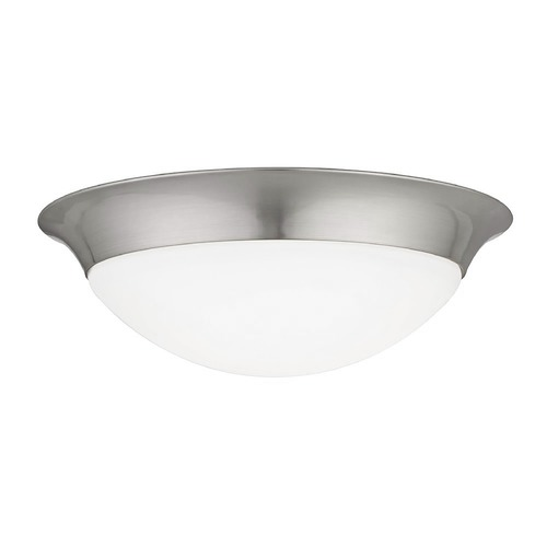 Design Classics Lighting Design Classics Sho Satin Nickel LED Flushmount Light 4014-90-09
