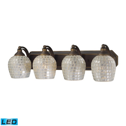Elk Lighting Elk Lighting Bath and Spa Aged Bronze LED Bathroom Light 570-4B-SLV-LED