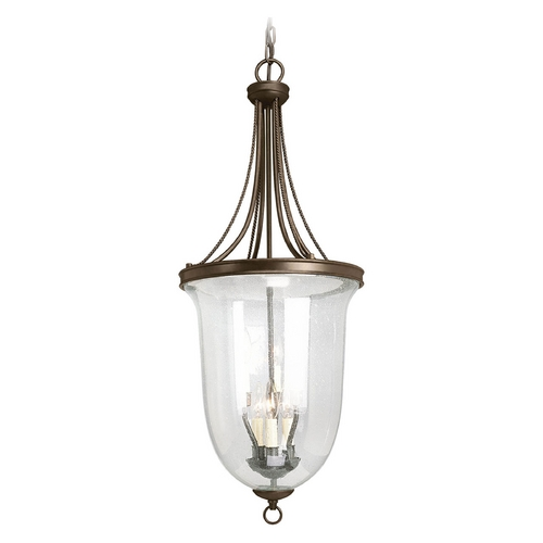 Progress Lighting Progress Pendant Light with Clear Glass in Antique Bronze Finish P3754-20