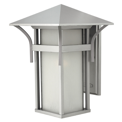 Hinkley Lighting Outdoor Wall Light with White Glass in Titanium Finish 2575TT-GU24
