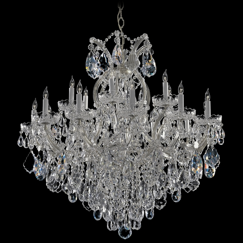 Crystorama Lighting Crystal Chandelier in Polished Chrome Finish 4418-CH-CL-SAQ