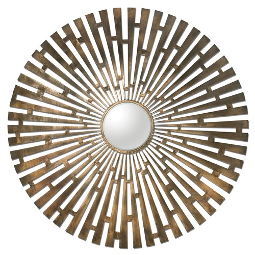 Uttermost Lighting Uttermost Tremeca Brass Starburst Mirror 12846