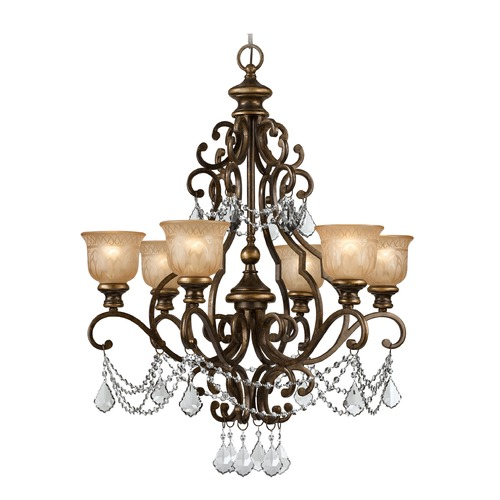Crystorama Lighting Crystorama Lighting Norwalk Bronze Umber Crystal Chandelier 7516-BU-CL-MWP