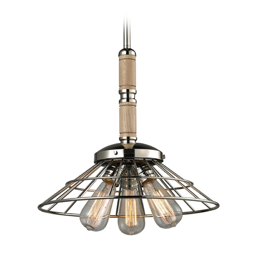 Elk Lighting Pendant Light in Polished Nickel Finish 14224/3