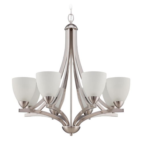 Jeremiah Lighting Jeremiah Lighting Almeda Satin Nickel Chandelier 37728-SN