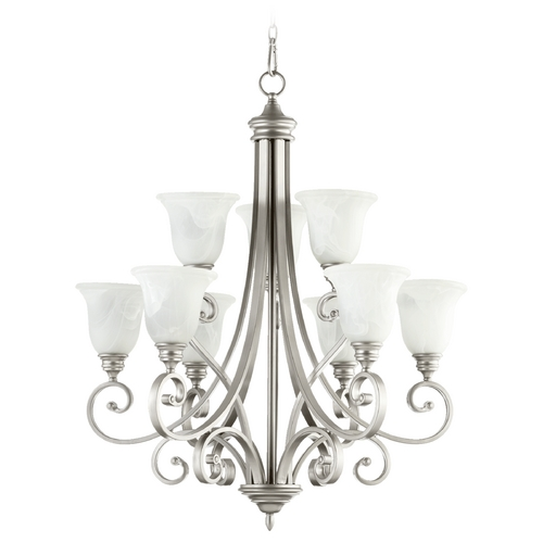 Quorum Lighting Quorum Lighting Bryant Classic Nickel Chandelier 6154-9-64
