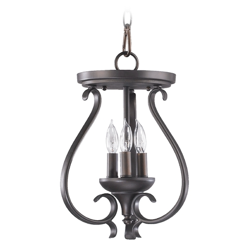 Quorum Lighting Quorum Lighting Randolph Oiled Bronze Pendant Light 6694-3-86