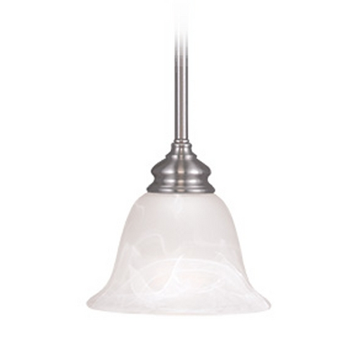 Livex Lighting Livex Lighting Essex Brushed Nickel Mini-Pendant Light with Bell Shade 1340-91