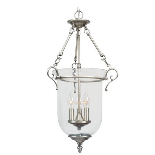 Livex Lighting Livex Lighting Legacy Brushed Nickel Pendant Light with Bowl / Dome Shade 5022-91
