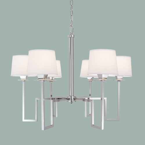 Norwell Lighting Norwell Lighting Maya Polished Nickel Chandelier 9676-PN-WS