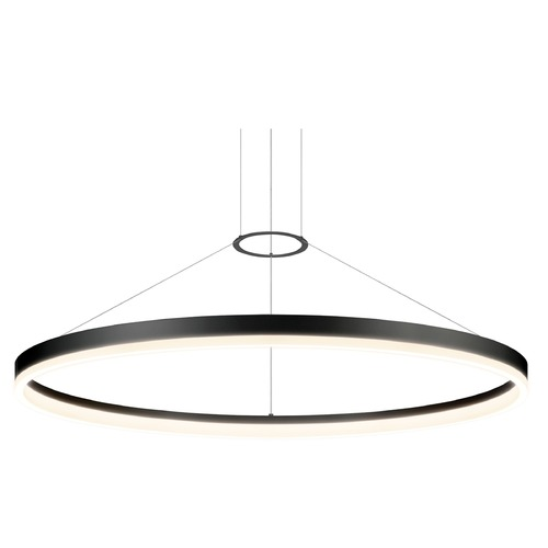 Sonneman Lighting Sonneman Corona Satin Black LED Pendant Light 2318.25