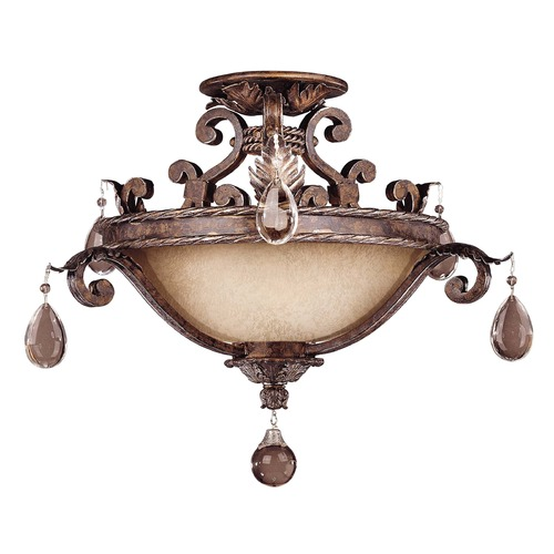 Savoy House Savoy House New Tortoise Shell W/silver Semi-Flushmount Light 6-5314-3-8
