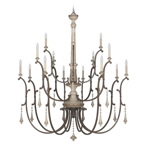 Capital Lighting Capital Lighting Chateau French Oak Chandelier 4098FO