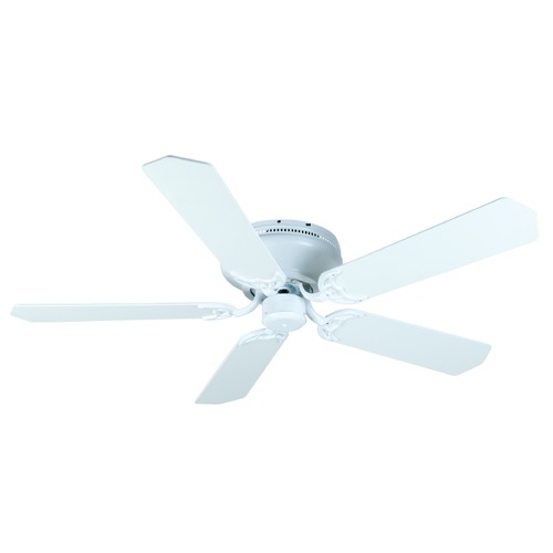 Craftmade Lighting Craftmade Lighting Pro Contemporary Flushmount White Ceiling Fan Without Light K11006
