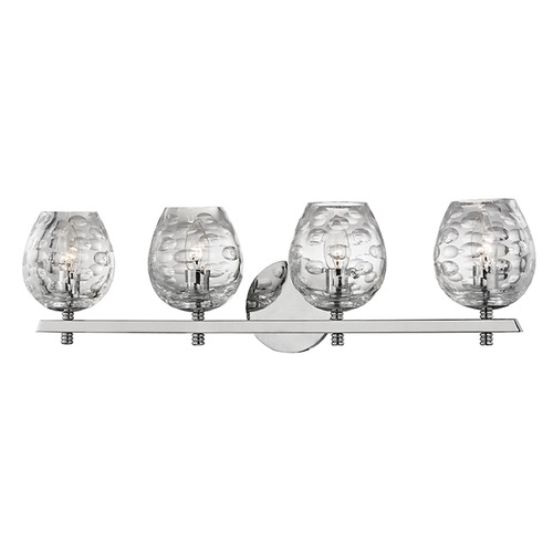 Hudson Valley Lighting Burns 4 Light Bathroom Light - Polished Nickel 1254-PN