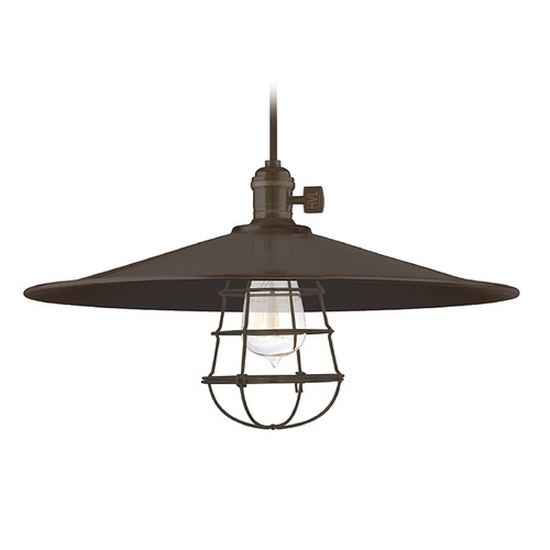 Hudson Valley Lighting Hudson Valley Lighting Heirloom Old Bronze Pendant Light with Coolie Shade 8002-OB-ML1-WG