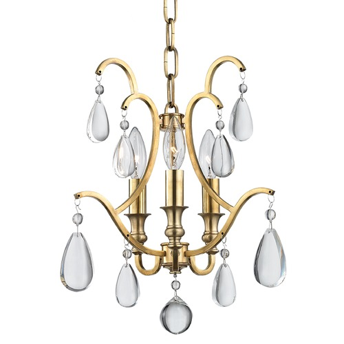 Hudson Valley Lighting Hudson Valley Lighting Crawford Aged Brass Chandelier 9303-AGB