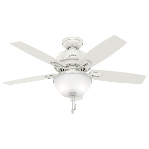 Hunter Fan Company Hunter Fan Company Donegan Fresh White LED Ceiling Fan with Light 52226