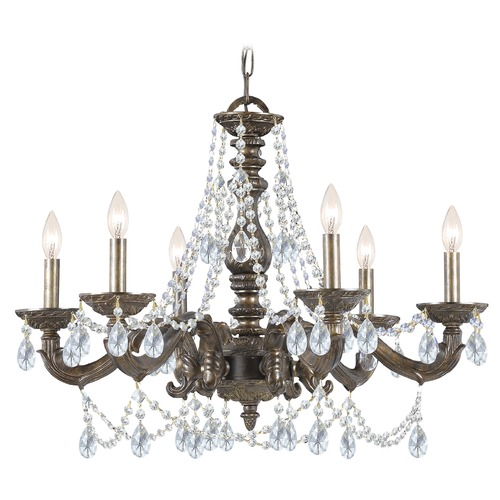 Crystorama Lighting Crystorama Lighting Paris Market Venetian Bronze Crystal Chandelier 5026-VB-CL-MWP
