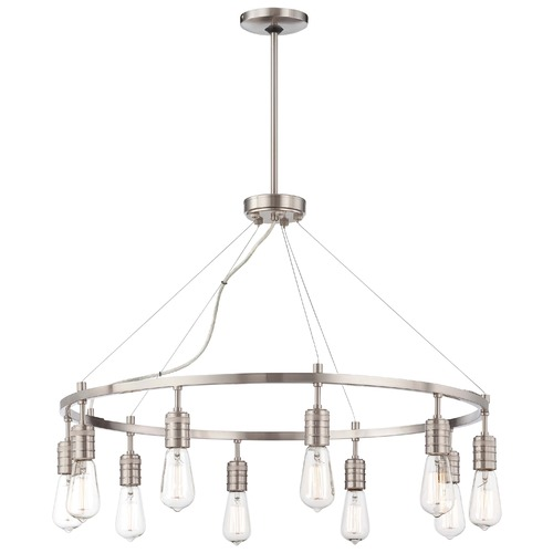 Minka Lavery Downtown Edison Brushed Nickel Chandelier 4139-84