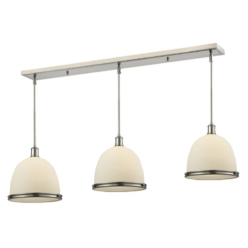 Z-Lite Z-Lite Mason Brushed Nickel Multi-Light Pendant with Bowl / Dome Shade 714P13-3BN