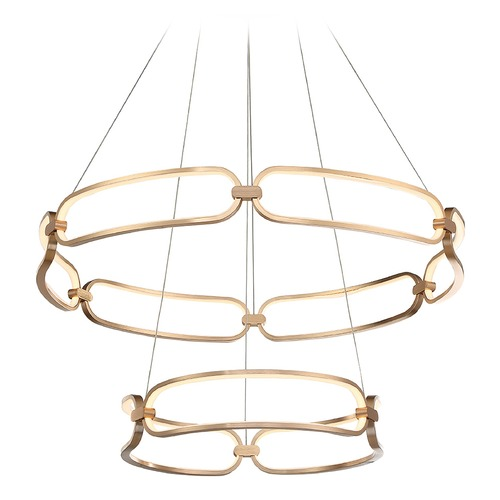 WAC Lighting Wac Lighting Charmed Soft Gold LED Chandelier PD-54934-SG