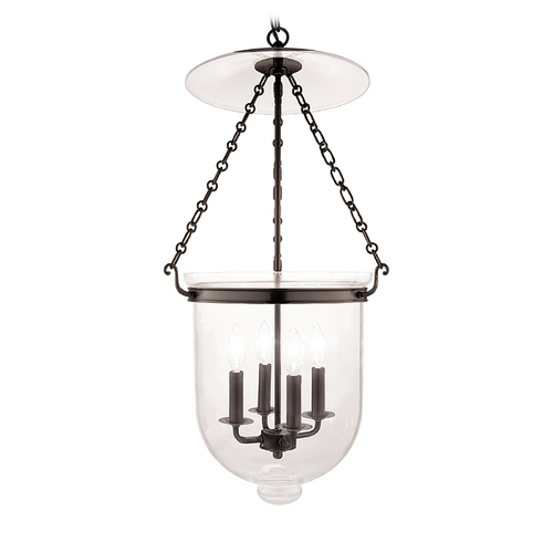 Hudson Valley Lighting Pendant Light with Clear Glass in Old Bronze Finish 255-OB-C1