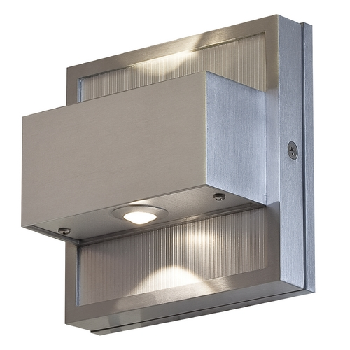 Access Lighting LED Outdoor Wall Light in Satin Nickel Finish 23064LEDMG-SAT
