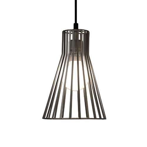 Design Classics Lighting Mini-Pendant with Silver Slatted Shade 815 SIL