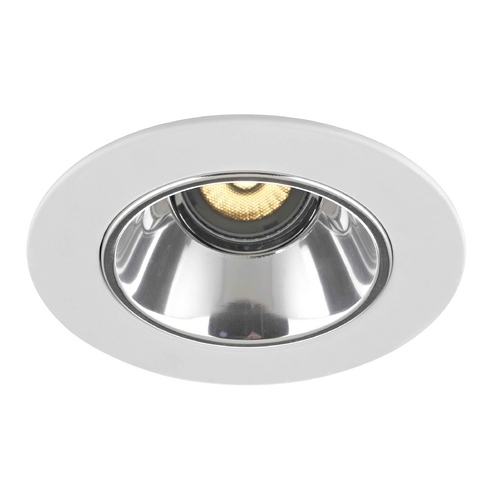 Recesso Lighting by Dolan Designs GU10 Adjustable Clear Reflector Trim for 4-Inch Line and Low Voltage Recessed Cans T414C-WH
