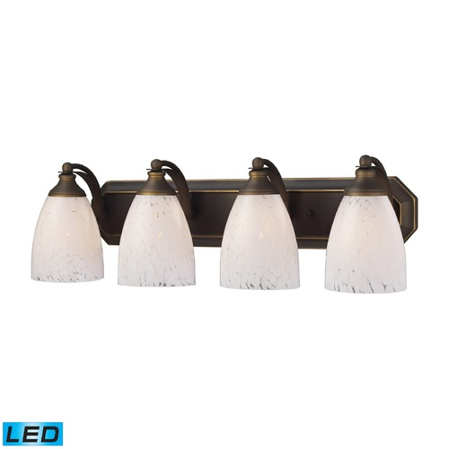 Elk Lighting Elk Lighting Bath and Spa Aged Bronze LED Bathroom Light 570-4B-SW-LED