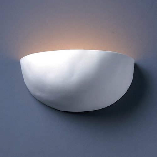 Justice Design Group Sconce Wall Light in Bisque Finish CER-2190-BIS