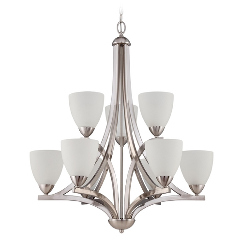 Jeremiah Lighting Jeremiah Lighting Hartford Satin Nickel Chandelier 37729-SN