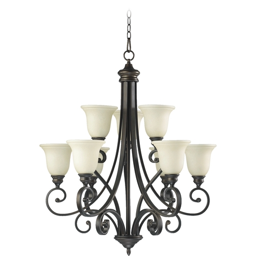 Quorum Lighting Quorum Lighting Bryant Oiled Bronze Chandelier 6154-9-86