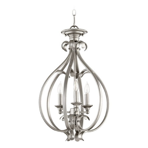 Quorum Lighting Quorum Lighting Randolph Classic Nickel Pendant Light 6794-3-64