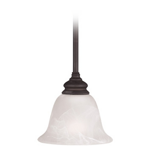 Livex Lighting Livex Lighting Essex Bronze Mini-Pendant Light with Bell Shade 1340-07