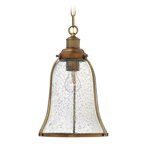 Hinkley Lighting Hinkley Lighting Marlowe Heritage Brass Pendant Light with Bell Shade 3494HB
