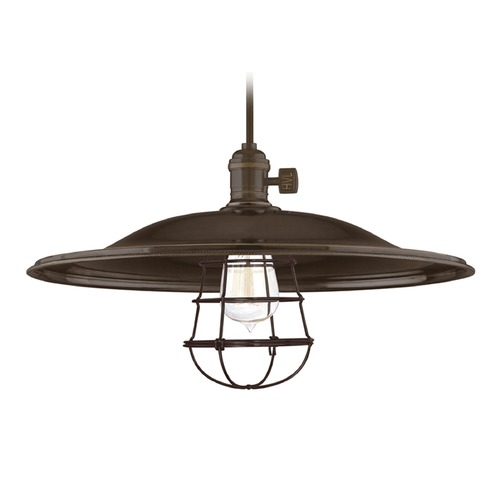 Hudson Valley Lighting Hudson Valley Lighting Heirloom Old Bronze Pendant Light with Bowl / Dome Shade 8002-OB-ML2-WG