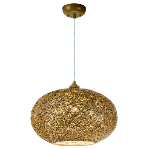 Maxim Lighting Maxim Lighting Bali Pendant Light with Oval Shade 14402NAWT