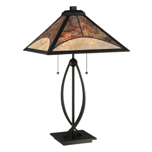 Quoizel Lighting Quoizel Lighting Mica Dark Bronze Table Lamp with Square Shade MC2581T