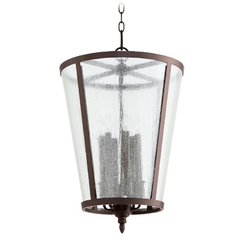 Quorum Lighting Quorum Lighting Oiled Bronze Pendant Light with Empire Shade 689-6-86