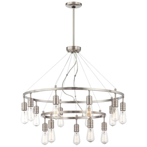 Minka Lavery Downtown Edison Brushed Nickel Chandelier 1137-84