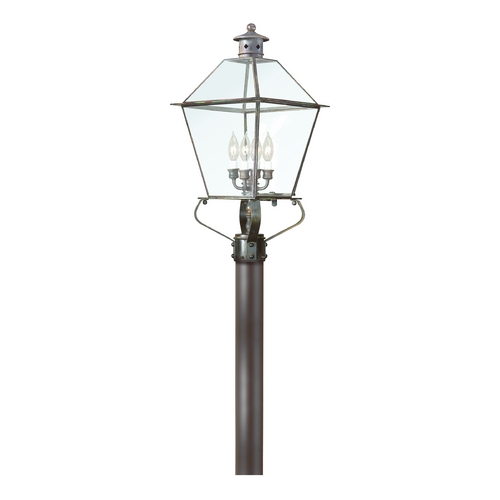 Troy Lighting Post Light with Clear Glass in Matte Black Finish P8958NAB